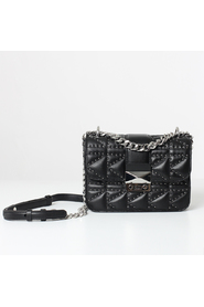 Karl lagerfeld quilted stud crossbody bag