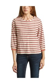 Solong Striped Blouse With 3/4 Sleeves