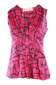 Printed Pleated Top -Pre Owned Condition Excellent IT38