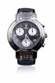 Pre-owned Stainless Steel 4500 G Unisex Chronograph Wrist Watch
