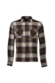 Checked overshirt L/S