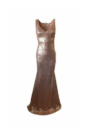 Sequin dress with V cutout