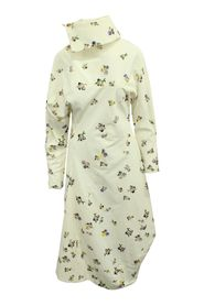 Flower Print Corduroy Midi Dress