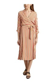 Relaxante striped print wallet dress