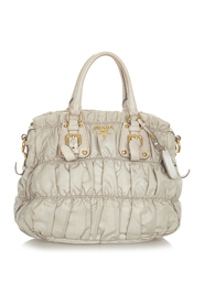 Pre-owned Nappa Gaufre Satchel Leather