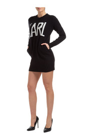 women's short mini dress long sleeve karl oui