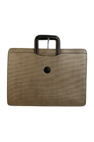 Canvas Retractable Handles Briefcase Work Bag