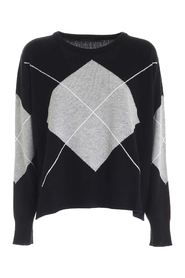 DIAMOND INLAY PULLOVER