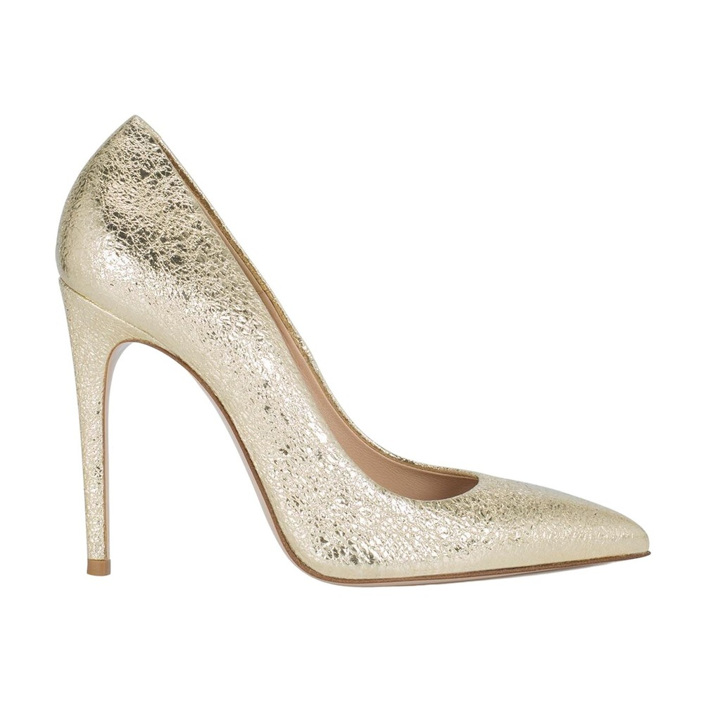 Lamè Calf Carrier Pumps