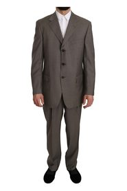 Pattern Two Piece 3 Button Wool Suit