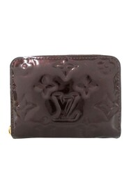 Pre-owned Vernis Zippy Coin Pouch Leather