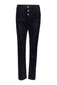 Longcut Denim Velour Jeans