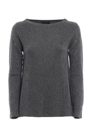 Crew neck sweater with lurex detail