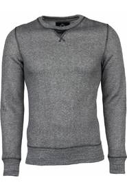 Sweater - Kunstleer Elleboog Blanco Heren