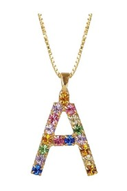 Multicolored A Letter Necklace