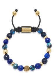 Beaded Bracelet with Lapis, Dumortierite and Bali