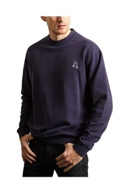 Embroidered Crew Neck Sweatshirt