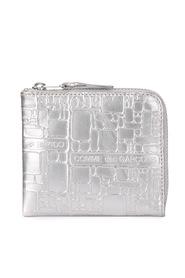 Silver leather coin wallet
