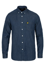 Marineblå Lyle & Scott skjorte