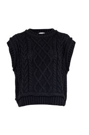 Malley Cable Knit Waistcoat Overdeler