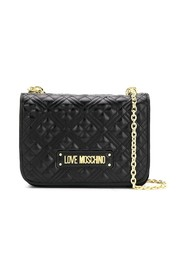 Logo plaque quilted bag