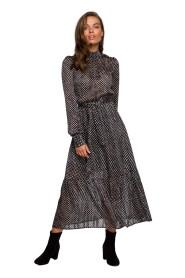 Sukienka midi szyfonowa w groszki