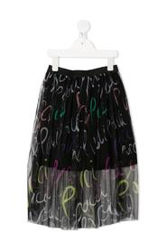 GONNA IN TULLE CON STAMPE