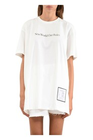 T-shirt dress whit quote and logo