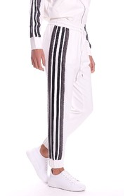 TWINSET JOGGING PANTS WITH WHITE LACE BAND