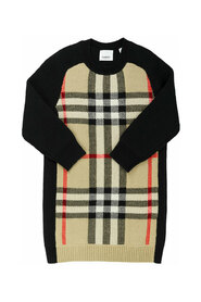 DIANNE  Wool and cashmere knit dress with tartan pattern