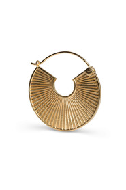 Pleated earring, gold-plated sterling silver