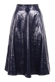 'Arch' Faux Leather Skirt