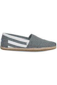 Dark Grey Stripes Toms Classics