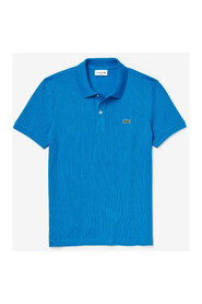 Close-fitting polo shirt in petit piqué