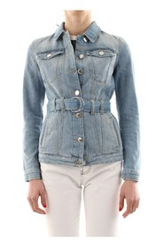 PINKO JULIA CLASSIC JACKET AND BLAZER Women DENIM LIGHT BLUE
