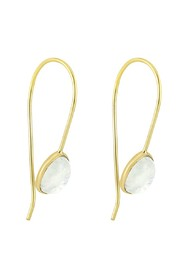 Oval Moonstone (Øredobber) Brass