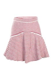 Red Striped Flare Skirt