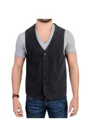 striped casual vest