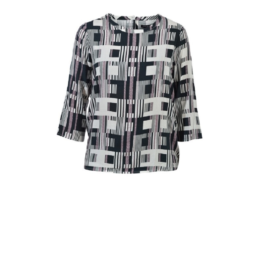 Sort/off white House of Soul Dorcey bluse