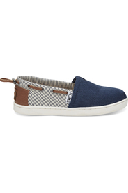 Navy Canvas/Stripes Toms Bimini