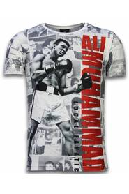 Muhammad Photocollage - Digital Rhinestone T-shirt