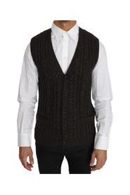 Knitted Wool Vest Cardigan
