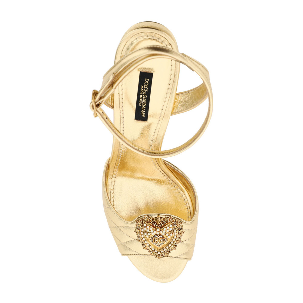Gold Sandals | Dolce & Gabbana | High Heel Sandals | Women's shoes