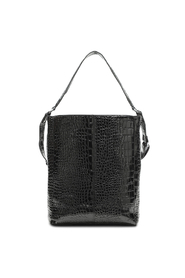 Carry Black Croco Print Shopper