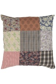 Cushion cover 3 x patchwork multicolored 50 x50 cm