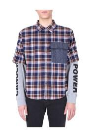 Check layered shirt