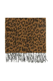 Reversible scarf with logo