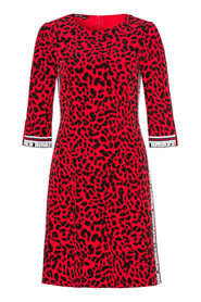 Red Panther Print Dress (6645)
