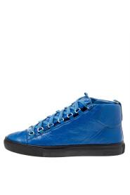 Brukte High High Sneakers i skinn