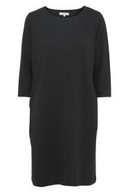 Sort Soyaconcept Dena solid kjole